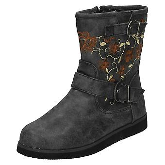 Girls Spot On Casual Ankle Boots