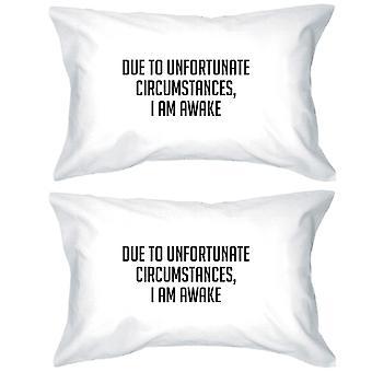 På grunn av uheldige vittig Design Pillow Case gaver For søvn elskere