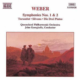 C.M. Von Weber - Weber: Symphonies Nos. 1 & 2 [CD] USA import