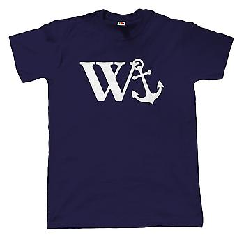 W Anchor Mens Funny Offensive T Shirt, Fathers Day Birthday Gift for Dad