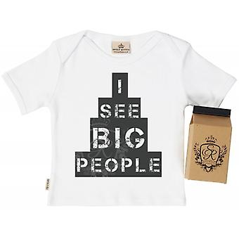 Spoilt Rotten See Big People Babys T-Shirt 100% Organic In Milk Carton