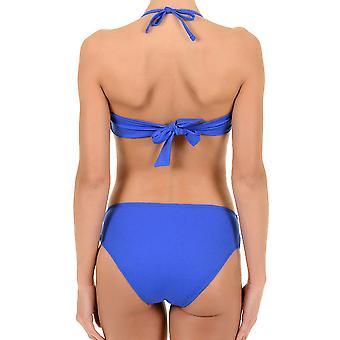 David Solid blå balkon Halterneck Bikini sæt 6465-DU