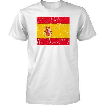 Spanien gequält Grunge Effekt Flaggendesign - Kinder T Shirt