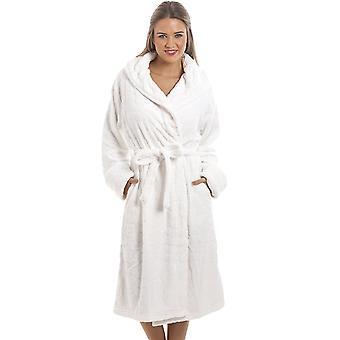 Camille White super Fleece hjertet ut badekåpe