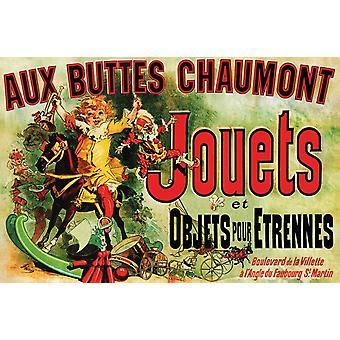 Jouets Chaumont Aux Buttes Chaumont Плакат Плакат Печать