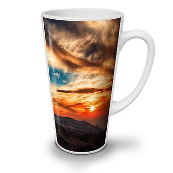 Evening Mountain Nature NEW White Tea Coffee Ceramic Latte Mug 12 oz | Wellcoda