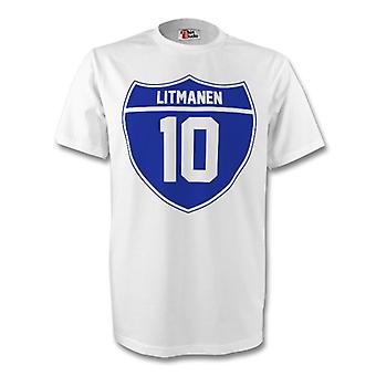 Jari Litmanen Finland Crest Tee (branco)