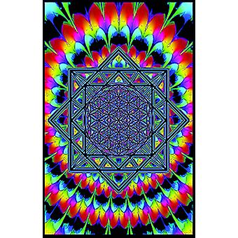 Sacred Geometry Blacklight Poster Print