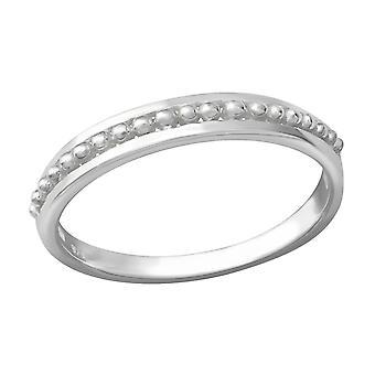 Patterned - 925 Sterling Silver Plain Rings - W36216x