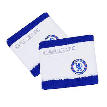 Chelsea FC officiella 2 Tone fotboll Crest Sport armband (förpackning med 2)