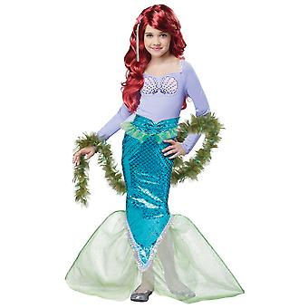 Sirène magique petite princesse Ariel histoire de conte de fées livre semaine filles Costume