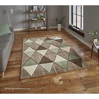 Proska Beige groen tapijt