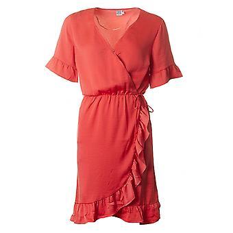 サン ・ トロペ フリル ディテールのラップ ドレス