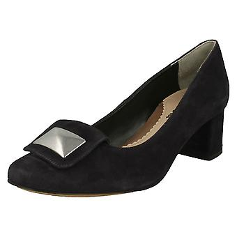 Ladies Van Dal Formal Court Shoes Opie - Midnight Suede Leather - UK Size 7D - EU Size 41 - US Size 9