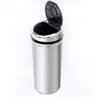HOMCOM 42L LUXURY Automatic Sensor Dustbin Kitchen Waste Bin Rubbish Trashcan Auto Dustbin Stainless with Bucket CHROME