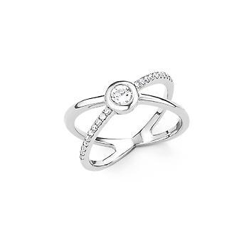 s.Oliver senhoras de joia anel prata zircônia X-anel 201513