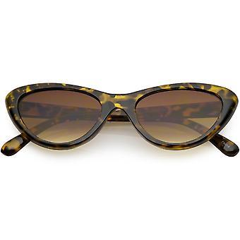 Mały Kot Retro okulary neutralne kolorowe soczewki oka 49mm