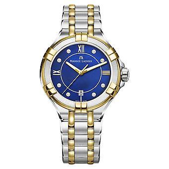 Maurice Lacroix naisten mä 35mm kaksi sävy ruostumattomasta teräksestä sähköinen BlueDial AI1006-PVY13-470-1 Watch