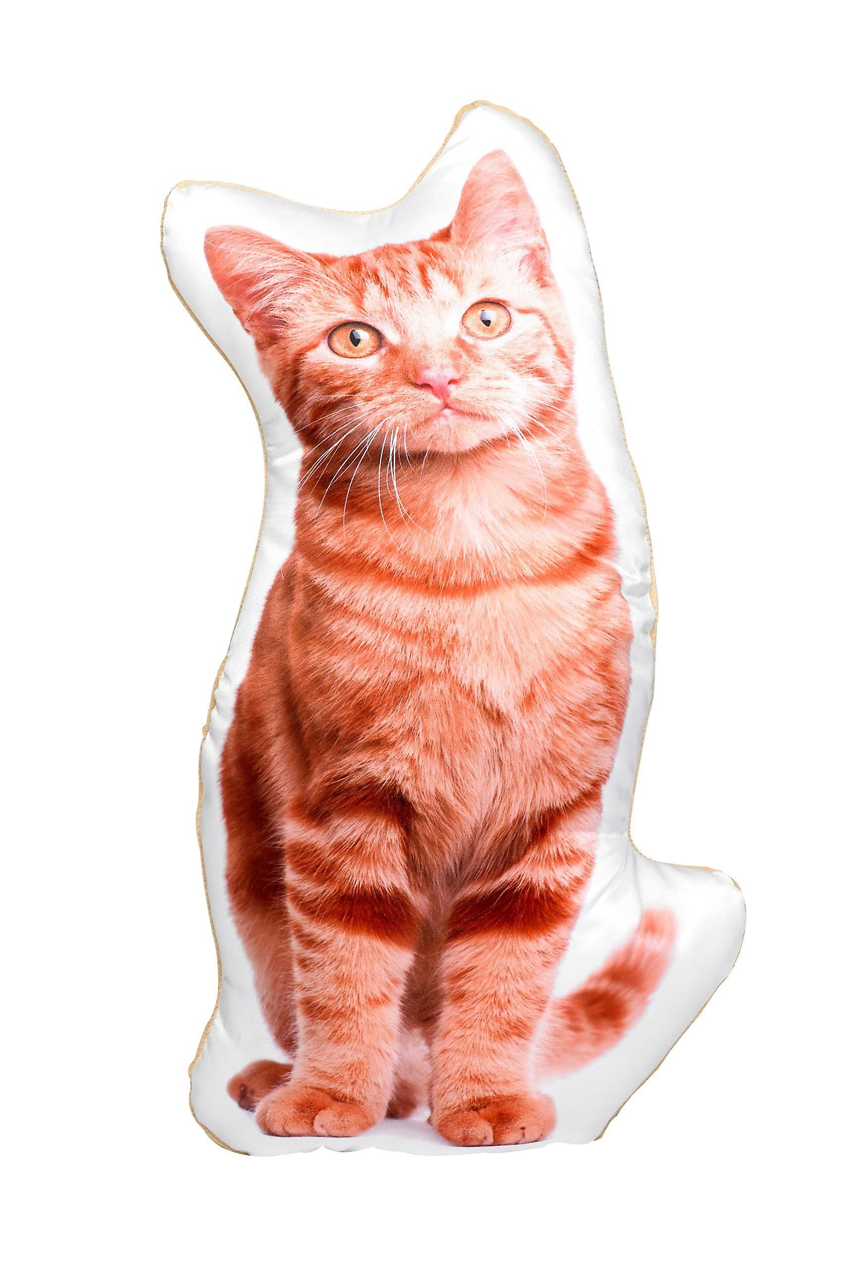 Adorable ginger cat shaped cushion