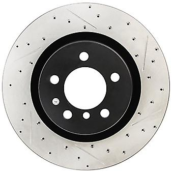StopTech 127.22015L Sport Drilled/Slotted Brake Rotor (Front Left), 1 Pack