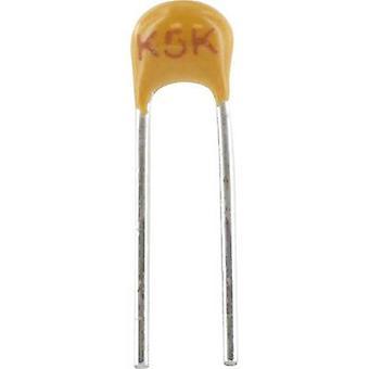 Kemet C315C151J1G5TA + Keramik Kondensator Radial 150 pF 100V 5 % Blei (L x b x H) 3,81 x 2,54 x 3,14 mm 1 PC