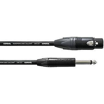Cordial CPM 5 FP XLR Adapterkabel [1 X XLR Steckdose - 1 x Klinkenstecker 6,35 mm] 5 m schwarz