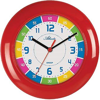 Atlanta wall clock quartz for children high quality ABS housing creeping second