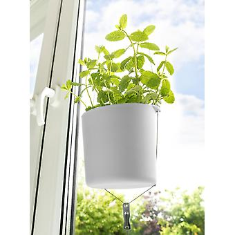 Herb pot 2 pieces herbal garden flower pot white for hanging on the window frame