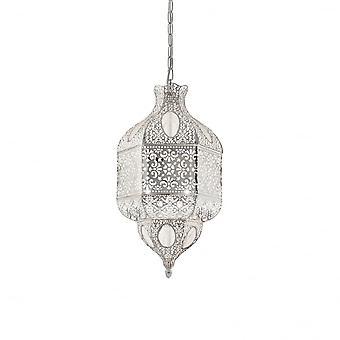 Ideal Lux Nawa 1 3 Bulb Pendant Light Argento