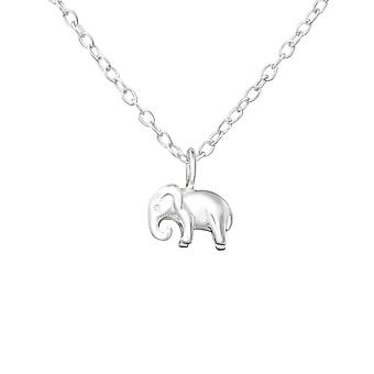 Elephant - 925 Sterling Silver Plain Necklaces - W36503X