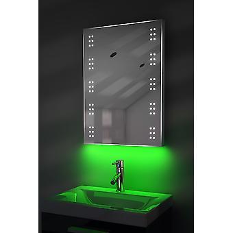 De ultra-slanke LED badkamer spiegel met ontwasemer Pad & Sensor K11T