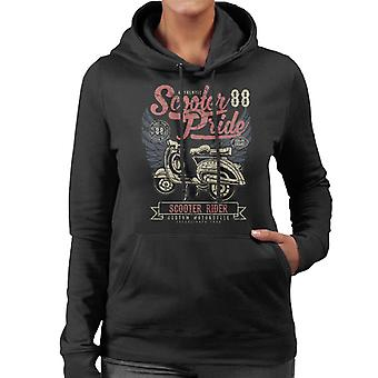 Retro Scooter Pride 1988 Women's Hooded Sweatshirt
