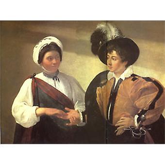 Fortune Teller, Caravaggio, 50x40cm