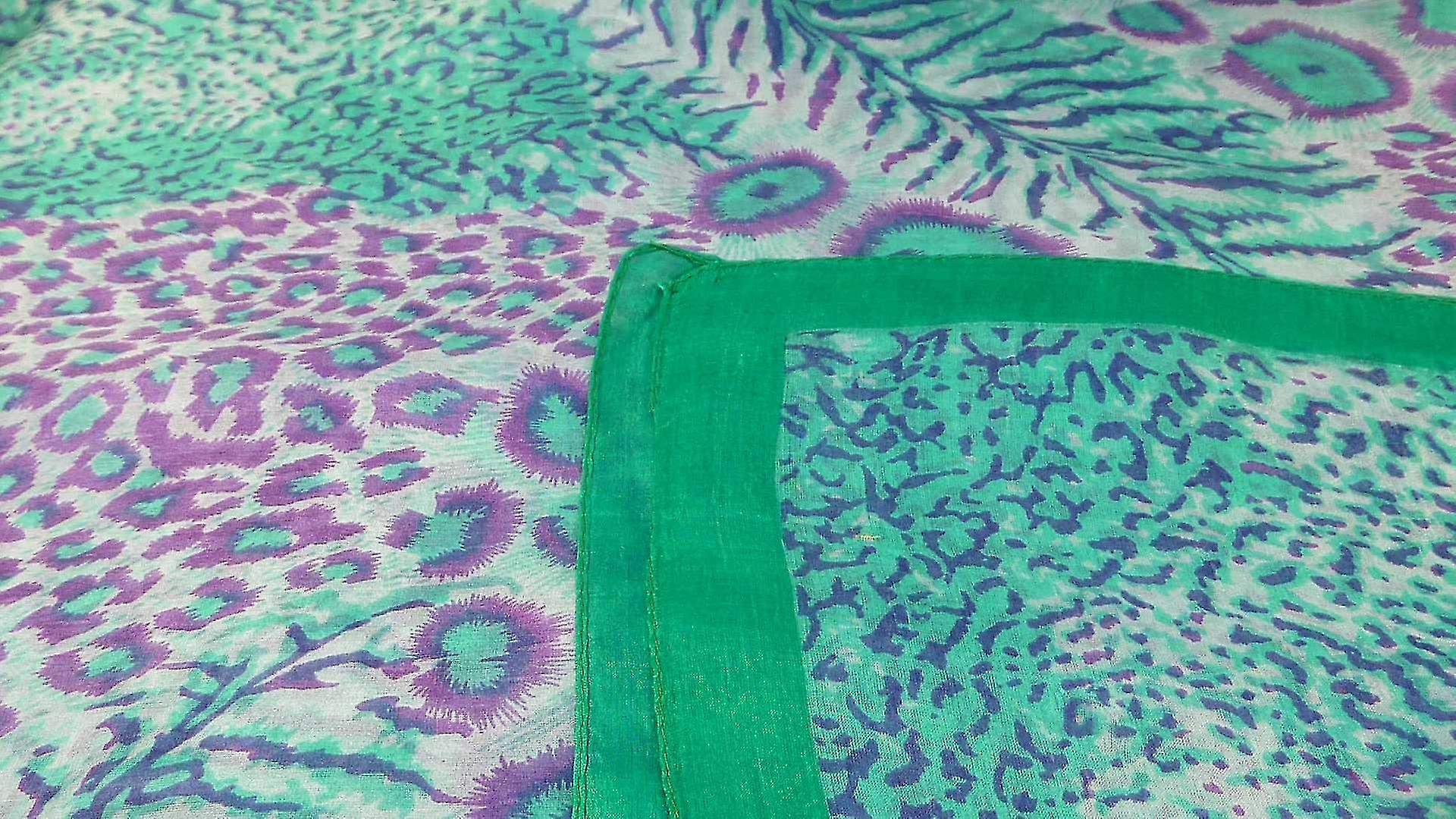 Mulberry Silk Contemporary Square Scarf Chanderi Emerald by Pashmina & Silk