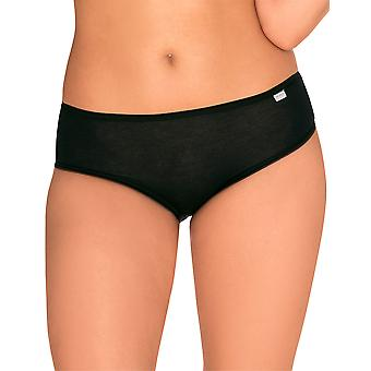 Sans Complexe 609102 Women's Simple Black Knickers Panty 3 Pack Brief