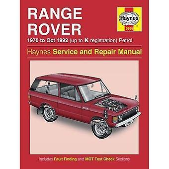 Range Rover V8 benzine Owners Workshop Manual: 70-92 (Haynes Service en reparatie handleidingen)