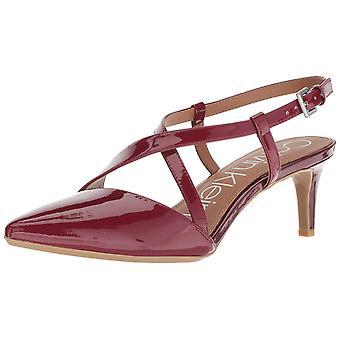Calvin Klein Womens Paula spetsiga tå ankel Strap klassiska pumpar