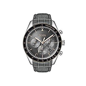 Relógio Hugo Boss cronógrafo quartz masculino com banda de couro 1513628