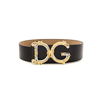 Dolce E Gabbana Be1336az83180999 Dames's Zwart Lederen Riem