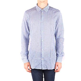 Dondup Ezbc051095 Men's Light Blue Cotton Shirt
