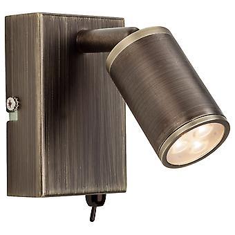 Firstlight-LED 3 luz de pared de iluminación interior (conmutada) bronce-3453BZ