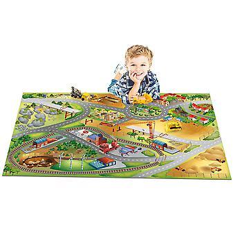 """Playmat Collection Connect """"Construction Carpet, Multi-Colour, 80 x 120 cm"""