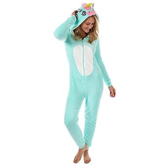 Womens Brave ziel Unicorn Onesie In Mint blauw