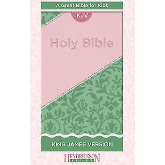 Kids Bible - King James Version (Flexisoft Leather - Pink/Green) by He