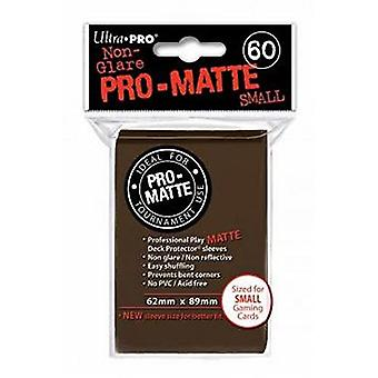 Ultra Pro Matte D10 Card Game Small Sleeves - Brown