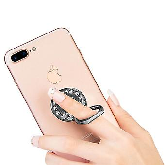Crystal Glitter Smartphone Ring Holder Kickstand - Black