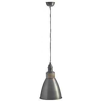 Fusion Living Small Iron And Wood Domed Zinc Pendant