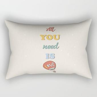 Need is love rectangle pillow