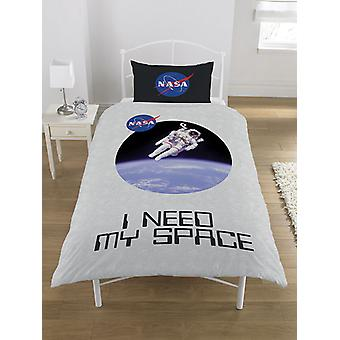 NASA I Need My Space Duvet Cover and Pillowcase Set