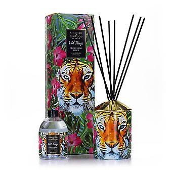 Ashleigh en Burwood Wild Things Supersized Reed Diffuser Boxed Gift Set Crouching Tiger